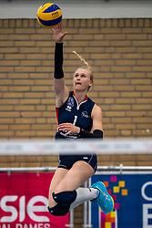 21-04-2019 NED: VC Sneek - Sliedrecht Sport, Sneek<br /> Final Round 2 of 5 Eredivisie volleyball - Sliedrecht Sport win 3-0 / Christie Wolt #1 of Sliedrecht Sport