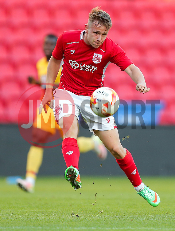 Joe McNulty of Bristol City U23 in action - Rogan Thomson/JMP - 30/08/2016 - FOOTBALL - Ashton Gate Stadium - Bristol, England - Bristol City U23 v Crystal Palace U23 - U23 Professional Development League 2 (South Division).