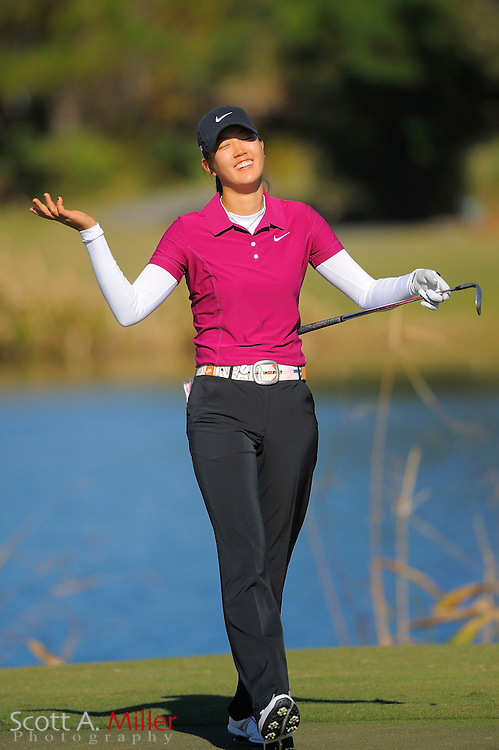 Michelle Wie during the final round of LPGA Qualifying School on the Champions Course at LPGA International on Dec. 7, 2008 in Daytona Beach, FL....©2008 Scott A. Miller