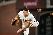 San Francisco Giants starting pitcher Ty Blach (50) pitches against the Cincinnati Reds at AT&T Park in San Francisco, California, on May 11, 2017. (Stan Olszewski/Special to S.F. Examiner)