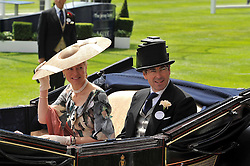 MR TIM & LADY HELEN TAYLOR at the Royal Ascot racing festival 2009 held on 17th June 2009.