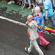 New York LGBT Pride Parade 2015, corner of Christopher Street and Gay Street, West Village Sir Derek Jacobi
