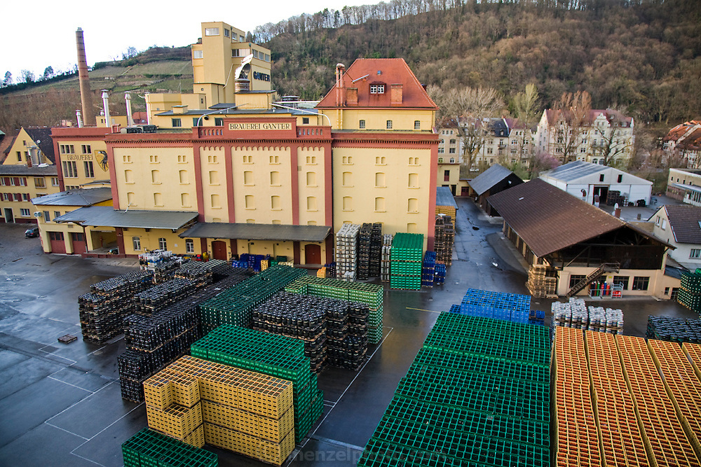 A view of the loading area and warehouse of Ganter Brewery in Freiburg im Breisgau, Germany, where Joachim Rösch works as a brewmaster.  (Joachim Rösch is featured in the book What I Eat: Around the World in 80  Diets.)