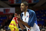 DESCRIZIONE : Katowice Poland Polonia Eurobasket Men 2009 Semifinal 5-8 place Francia France Turchia Turkey <br /> GIOCATORE : Nicolas Batum<br /> SQUADRA : Francia France<br /> EVENTO : Eurobasket Men 2009<br /> GARA : Francia France Turchia Turkey <br /> DATA : 19/09/2009 <br /> CATEGORIA : esultanza<br /> SPORT : Pallacanestro <br /> AUTORE : Agenzia Ciamillo-Castoria/H.Bellenger<br /> Galleria : Eurobasket Men 2009 <br /> Fotonotizia : Katowice  Poland Polonia Eurobasket Men 2009 Semifinal 5-8 place Francia France Turchia Turkey <br /> Predefinita :