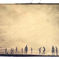 Football on the beach, Morocco