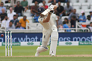 Jos Buttler of England cover drives during the 3rd International Test Match 2018 match between England and India at Trent Bridge, West Bridgford, United Kingdon on 21 August 2018.