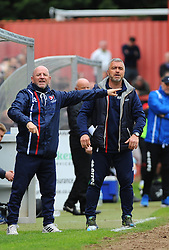 Cheltenham Town assistant manager Russell Milton gives orders - Mandatory by-line: Nizaam Jones/JMP - 17/04/2017 - FOOTBALL - LCI Rail Stadium - Cheltenham, England - Cheltenham Town v Grimsby Town - Sky Bet League Two