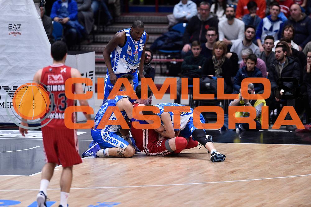 PROVVISORIO -- Milano 2 Gennaio 2015 - Campionato Basket Serie A - EA7 Emporio Armani vs Banco di Sardegna Sassari<br /> <br /> nella foto: Brian Sacchetti<br /> Foto Ciamillo
