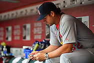 PHOENIX, ARIZONA - APRIL 27:  Mike Matheny #22 of the St. Louis Cardinals sits in the dugout prior to the MLB game against the Arizona Diamondbacks at Chase Field on April 27, 2016 in Phoenix, Arizona.  (Photo by Jennifer Stewart/Getty Images)