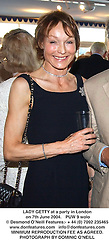 LADY GETTY at a party in London on 7th June 2004.PUW 9 wolo