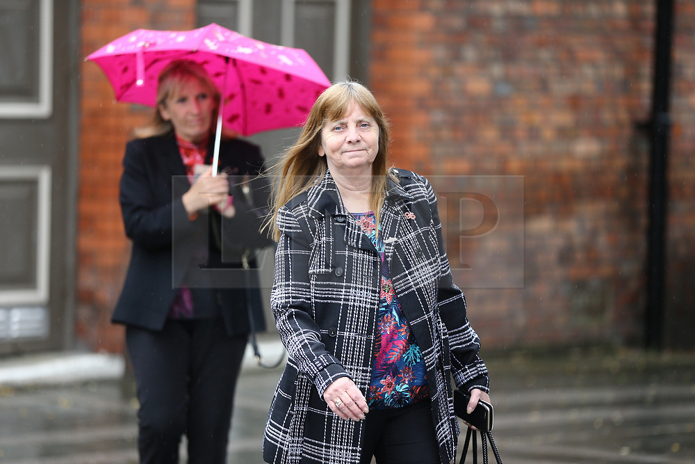 © Licensed to London News Pictures. 28/06/2017. Warrington, UK. Margaret Aspinall arrives at Parr Hall. Families of the 96 people killed at the Hillsborough disaster in 1989 will today find out if criminal charges will be brought after Prosecutors examining files identified 23 criminal suspects. Families will be informed of the decisions by Sue Hemming, CPS Head of Special Crime & Counter-Terrorism at Parr Hall in Warrington. Photo credit: Andrew McCaren/LNP