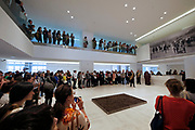 Athens, Greece. Opening days of documenta14.<br /> EMST, National Museum Of Contemporary Art. Special welcoming ceremony by Maori artists from New Zealand.