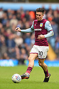 Aston Villa midfielder Jack Grealish (10) during the EFL Sky Bet Championship match between Aston Villa and Derby County at Villa Park, Birmingham, England on 28 April 2018. Picture by Jon Hobley.