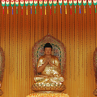 Three golden Buddha statue in Malaysia