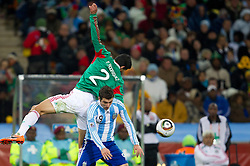 Francisco Rodriguez of Mexico vs Gonzalo Higuain of Argentina during the 2010 FIFA World Cup South Africa Round of Sixteen match between Argentina and Mexico at Soccer City Stadium on June 27, 2010 in Johannesburg, South Africa. (Photo by Vid Ponikvar / Sportida)