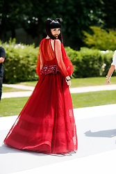 Street style, Jessica Minh Anh arriving at Dior Fall-Winter 2018-2019 Haute Couture show held at Musee Rodin, in Paris, France, on July 2nd, 2018. Photo by Marie-Paola Bertrand-Hillion/ABACAPRESS.COM