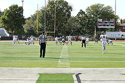 01 October 2016:   Titan Football during an NCAA division 3 football game between the Wheaton Thunder and the Illinois Wesleyan Titans in Tucci Stadium on Wilder Field, Bloomington IL (Photo by Alan Look)