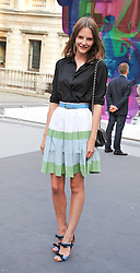 SARA BLOMQVIST at the Royal Academy of Arts Summer Exhibition Preview Party at Burlington House, Piccadilly, London on 2nd June 2011.