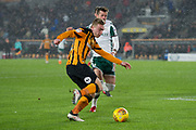 Jarrod Bowen of Hull City during the EFL Sky Bet Championship match between Hull City and Barnsley at the KCOM Stadium, Kingston upon Hull, England on 27 February 2018. Picture by Craig Zadoroznyj.