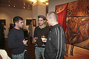 Eugene Layton, Mark Seiltz and  James David , The Real Dream, private view for an exhibition of work by Michael Rogatchi. Cork St. London.  5 December 2006. ONE TIME USE ONLY - DO NOT ARCHIVE  © Copyright Photograph by Dafydd Jones 248 CLAPHAM PARK RD. LONDON SW90PZ.  Tel 020 7733 0108 www.dafjones.com