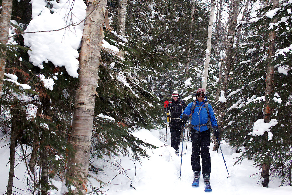 Ski to Avalanche Lake in the Adirondacks, Feb. 21, 2015.<br /> <br /> Alexander Cohn photo