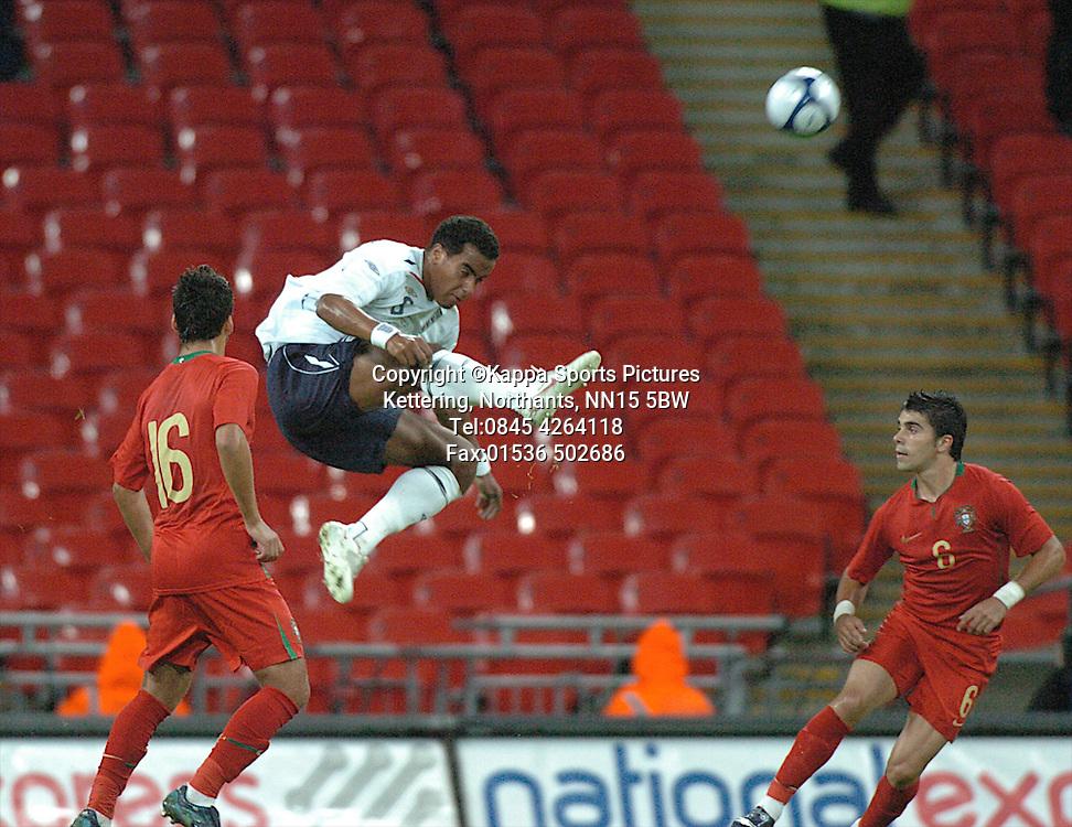 TOM HUDDLESTONE, ENGLAND, England-Portugal Under 21s, EEFA EUROPEAN Under 21 Championship, Wembley Stadium 5th September 2008