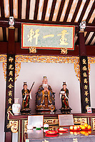 The temple has a number of different altars dedicated to a range of gods and deities.  This one is dedicated to Confucius.