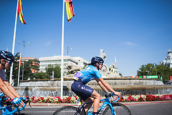 Alba Teruel (ESP) of Movistar Women's Team rides to the start of Stage 2 of the Madrid Challenge - a 100.3 km road race, starting and finishing in Madrid on September 16, 2018, in Spain. (Photo by Balint Hamvas/Velofocus.com)