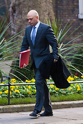 London, February 24th 2015. Ministers arrive at the weekly cabinet meeting at 10 Downing Street. PICTURED: Secretary of State for Culture, Media and Sport Sajid Javid
