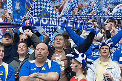LONDON, ENGLAND - Saturday, May 17, 2008: Portsmouth supporters during the FA Cup Final against Cardiff City at Wembley Stadium. (Photo by David Rawcliffe/Propaganda)