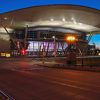 Boston landmark photography image showing the modern architecture of the Boston Convention and Exhibition Center up close and personal. The cityscape photography picture was photographed on a stunning night at twilight. The BCEC is one of the largest convention and exhibition centers in the Northeast. Boston Convention and Exhibition Center photo images are available as museum quality photography prints, canvas prints, acrylic prints, wood prints or metal prints. Fine art prints may be framed and matted to the individual liking and decorating needs: <br /> <br /> http://juergen-roth.pixels.com/featured/boston-convention-and-exhibition-center-juergen-roth.html<br /> <br /> All Boston Convention and Exhibition Center photographs are available for digital and print image licensing at www.RothGalleries.com. Please contact me direct with any questions or request.<br /> <br /> Good light and happy photo making!<br /> <br /> My best,<br /> <br /> Juergen<br /> Prints: http://www.rothgalleries.com<br /> Photo Blog: http://whereintheworldisjuergen.blogspot.com<br /> Twitter: @NatureFineArt<br /> Instagram: https://www.instagram.com/rothgalleries<br /> Facebook: https://www.facebook.com/naturefineart