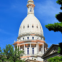 Michigan State Capitol Building Dome in Lansing, Michigan<br />