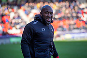 Doncaster Rovers Manager Darren Moore during the EFL Sky Bet League 1 match between Doncaster Rovers and Wycombe Wanderers at the Keepmoat Stadium, Doncaster, England on 29 February 2020.
