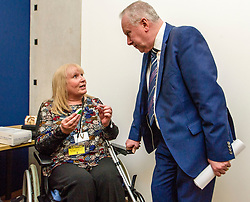 Pictured: Alex Neil MSP meets petitioner Elaine Holmes<br /> Thousands of Scottish women have been fitted with polypropylene transvaginal mesh to treat pelvic organ prolapse or stress urinary incontinence. As a result women in every Scottish constituency have been severely injured or permanently disabled following this procedure, some have lost organs, many their careers and their relationships.&nbsp; The women and their families  are asking MSPs to sign a pledge <br /> <br /> Ger Harley | EEm 16 March 2017