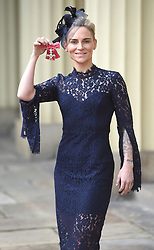December 20, 2018 - London, London, United Kingdom - Image licensed to i-Images Picture Agency. 20/12/2018. London, United Kingdom. Jessica Fishlock with her award after an Investiture at Buckingham Palace in London. (Credit Image: © Pool/i-Images via ZUMA Press)