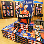 """Elena Delle Donne new book """"My Shot"""" sits on display during a signing Saturday, March 10, 2018, at Barnes and Noble in Wilmington Delaware."""
