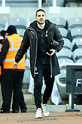 Aleksandar Mitrovic (#45) of Newcastle United arrives ahead of the Premier League match between Newcastle United and Leicester City at St. James's Park, Newcastle, England on 9 December 2017. Photo by Craig Doyle.