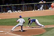 MINNEAPOLIS, MN - APRIL 14: Yu Darvish #11 of the Texas Rangers tags out Ryan Doumit of the Minnesota Twins at home plate during their game at Target Field on April 14, 2012 in Minneapolis, Minnesota. (Photo by Joe Robbins)