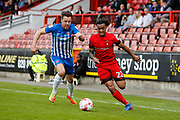 Sandro Semedo of Leyton Orient and Carl Magnay of Hartlepool United during the EFL Sky Bet League 2 match between Leyton Orient and Hartlepool United at the Matchroom Stadium, London, England on 17 April 2017. Photo by Andrew Lewis.