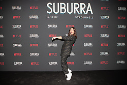 Daniela Collu at the Red Carpet of the series Suburra 2 at Circolo Degli Illuminati in Rome, Italy, 20 February 2019 .Dress: Alisi, Shoes: Trussardi  (Credit Image: © Lucia Casone/Soevermedia via ZUMA Press)
