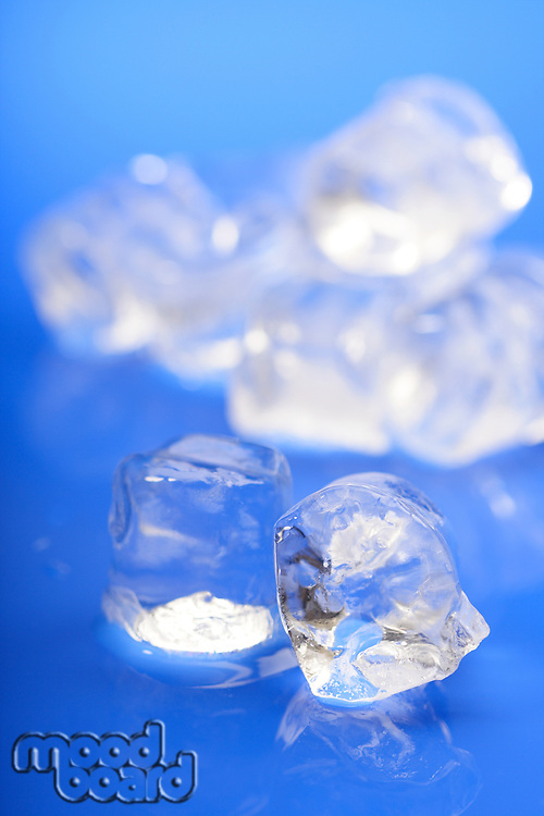 Close up of ice cubes