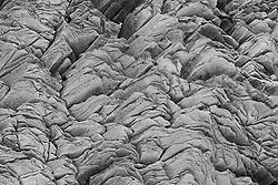 Various forms in the rock in Reynisfjara, Iceland-  Klettar í Reynisfjöru