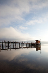 """""""Pier in Tahoe City 2"""" - This pier was photographed near Commons Beach in Tahoe City, CA."""