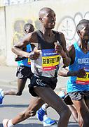 Geoffrey Koech (KEN) places fifth in 1:01:00 in the Prague Half Marathon in Prague, Czech Republic on Saturday, April 17, 2017. (Jiro Mochizuki/IOS)