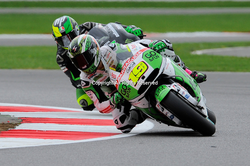 29.08.2014.  Silverstone, England. MotoGP. British Grand Prix.Alvaro bautista (Go& Fun Honda Gresini ) during the free practice sessions