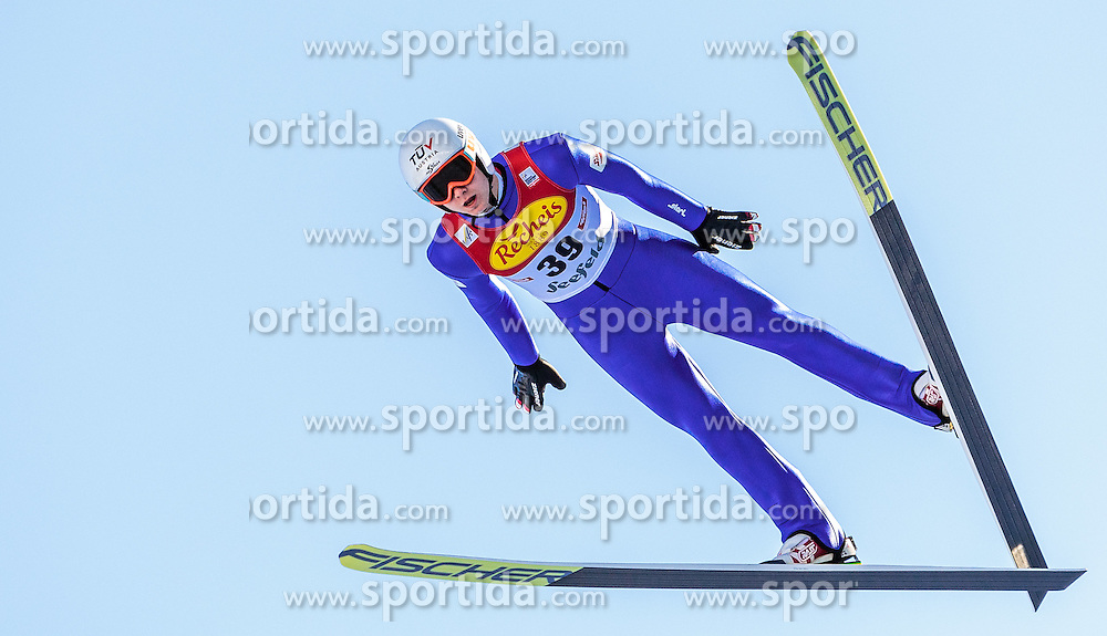 30.01.2016, Casino Arena, Seefeld, AUT, FIS Weltcup Nordische Kombination, Seefeld Triple, Skisprung, Probedurchgang, im Bild Harald Lemmerer (AUT) // Harald Lemmerer of Austria competes during his Trial Jump of Skijumping of the FIS Nordic Combined World Cup Seefeld Triple at the Casino Arena in Seefeld, Austria on 2016/01/30. EXPA Pictures © 2016, PhotoCredit: EXPA/ JFK