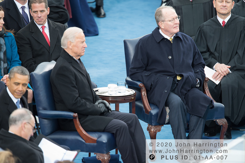 Vice President Biden and Sen. Lamar Alexander look on as James Taylor performs during the 57th Presidential Inauguration of President Barack Obama at the U.S. Capitol Building in Washington, DC January 21, 2013.