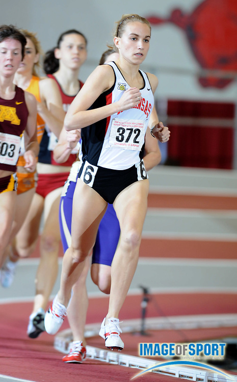 Mar 14, 2008; Fayetteville, AR, USA; Dacia Barr of Arkansas was third in women's mile heat in 4:41.70 in the NCAA indoor track and field championships at the Randal Tyson Center.
