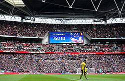 The Attendance figure is shown on the big screen at Wembley - Mandatory by-line: Robbie Stephenson/JMP - 24/04/2016 - FOOTBALL - Wembley Stadium - London, England - Crystal Palace v Watford - The Emirates FA Cup Semi-Final