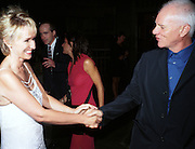 Tina Brown and Malcolm Mcdowell. Talk magazine launch. New York. 2 September 1999.<br />© Copyright Photograph by Dafydd Jones<br />66 Stockwell Park Rd. London SW9 0DA<br />Tel 0171 733 0108